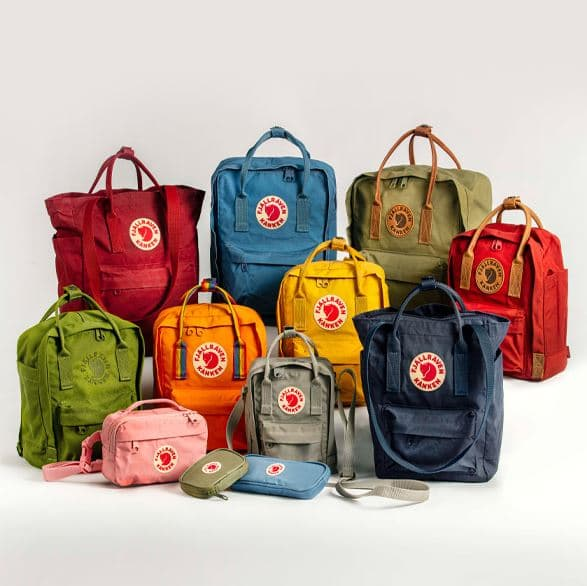 A Large Selection Of Fjallraven Kanken Colors And Sizes