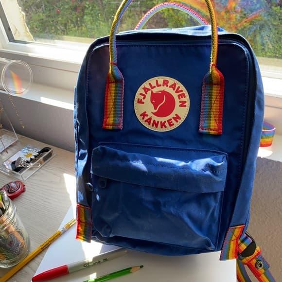 Fjallraven Kanken rainbow backpack